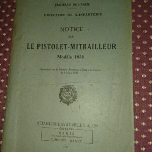 militaria Regulation Books French WWII Original