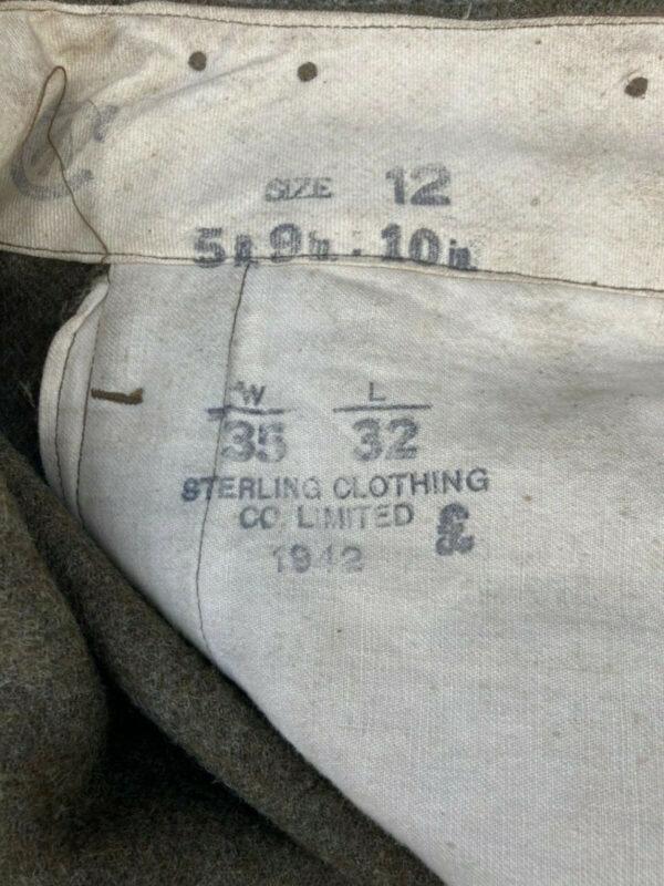 militaria Uniforms Commonwealth WWII Original